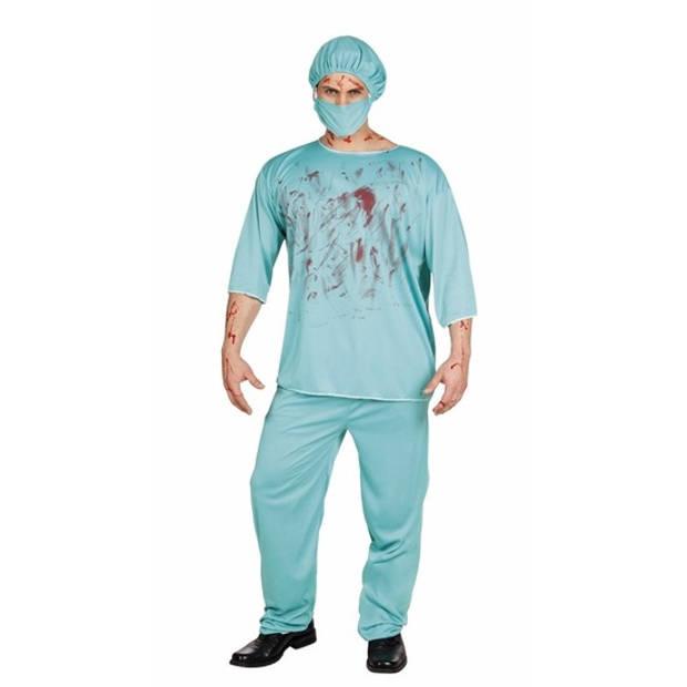 Halloween bloederige chirurg kostuum heren 50/52 (M/L)