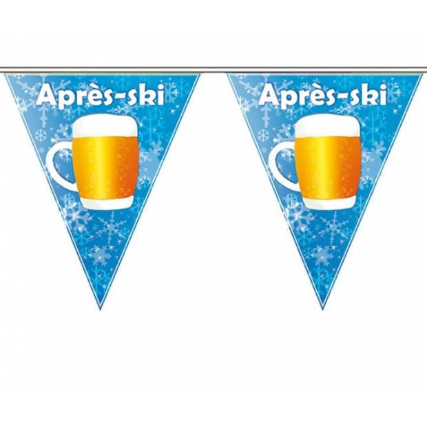 Apres ski vlaggenlijn 5 meter - Apres ski artikelen/feestversiering