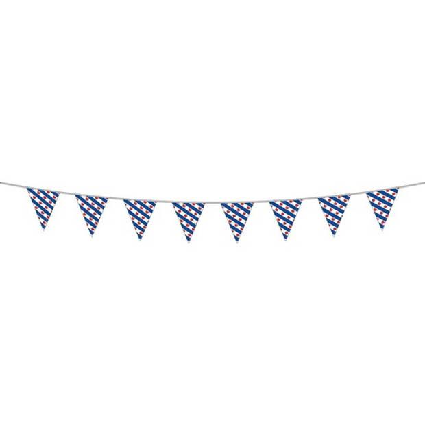Friesland versiering vlaggetjes slinger voor binnen/buiten 10 meter - vlaggenlijn