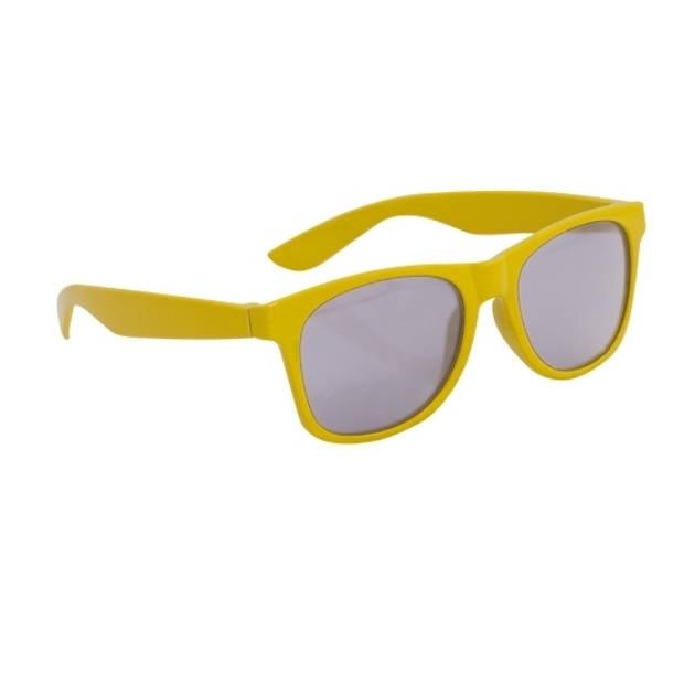 Gele kinder feest- en zonnebril wayfarer - Feestbrillen voor kinderen