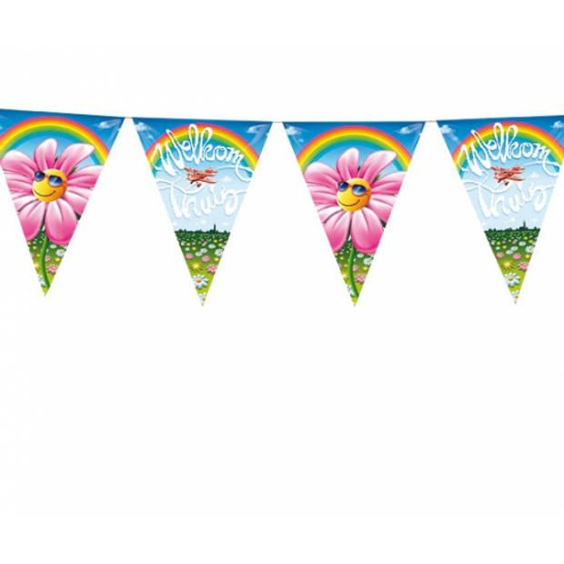 Welkom thuis thema vlaggenlijnen/vlaggetjes van 6 meter - feestartikelen/versiering
