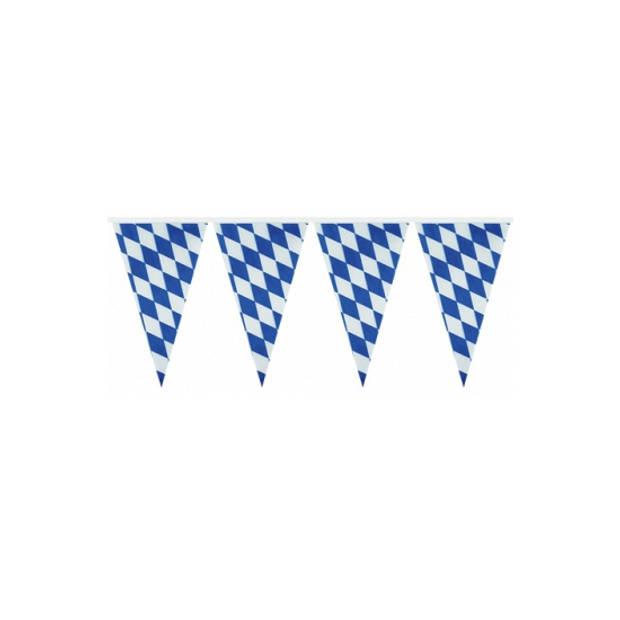 Oktoberfest Vlaggenlijn blauw/wit Bayern Oktoberfest van 4 meter