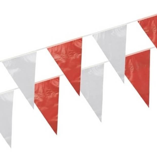 Vlaggenlijn rood/wit 10 meter