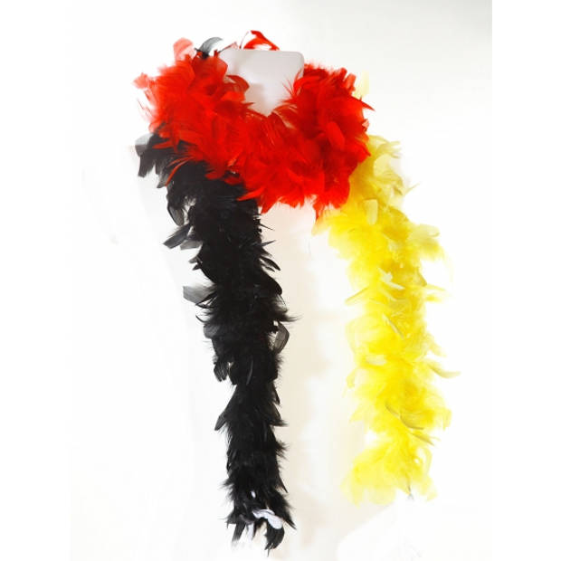 Rood/geel/zwarte boa 180 cm