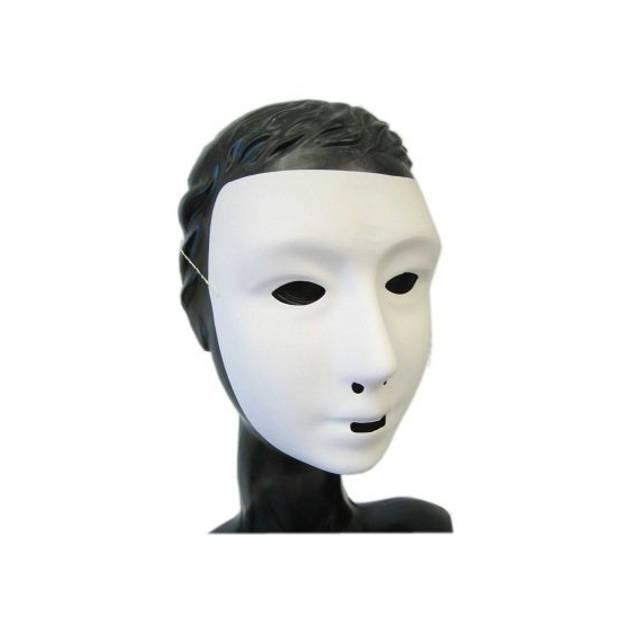 Wit grimeer masker met kalklaag - Blanco gezichtsmasker