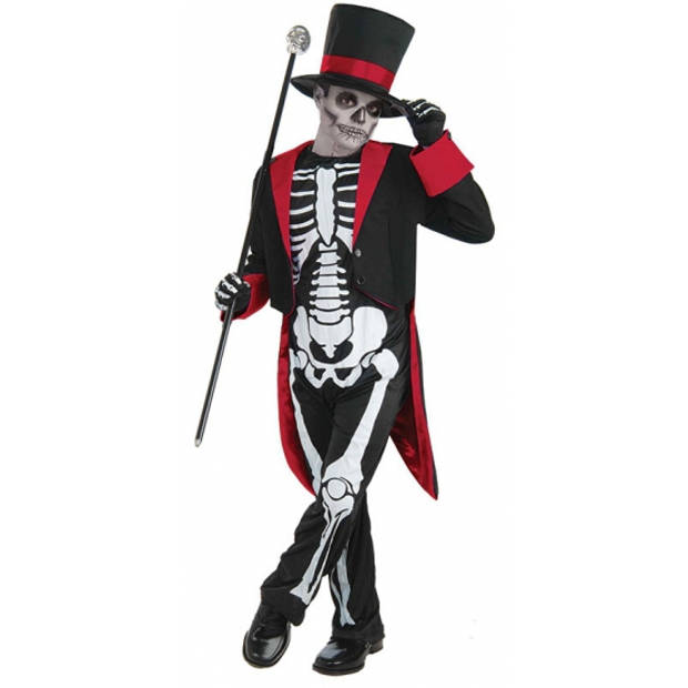Mr. Bone Jangles kostuum voor kinderen 128 - 6-8 jr