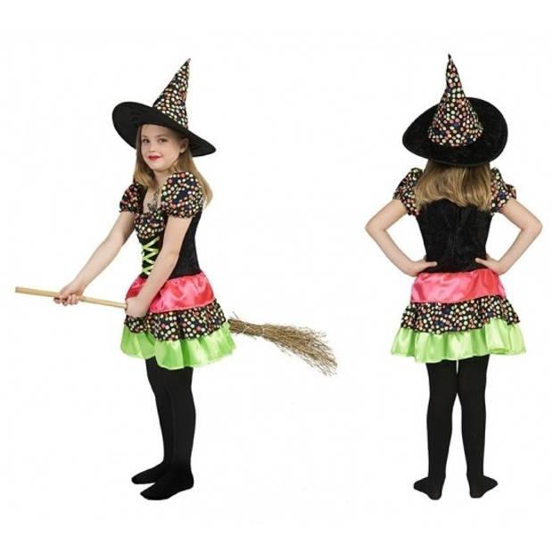 Heksen jurk voor meisjes 140
