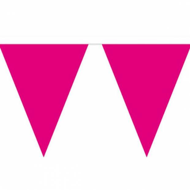 Magenta roze vlaggenlijn 10 meter