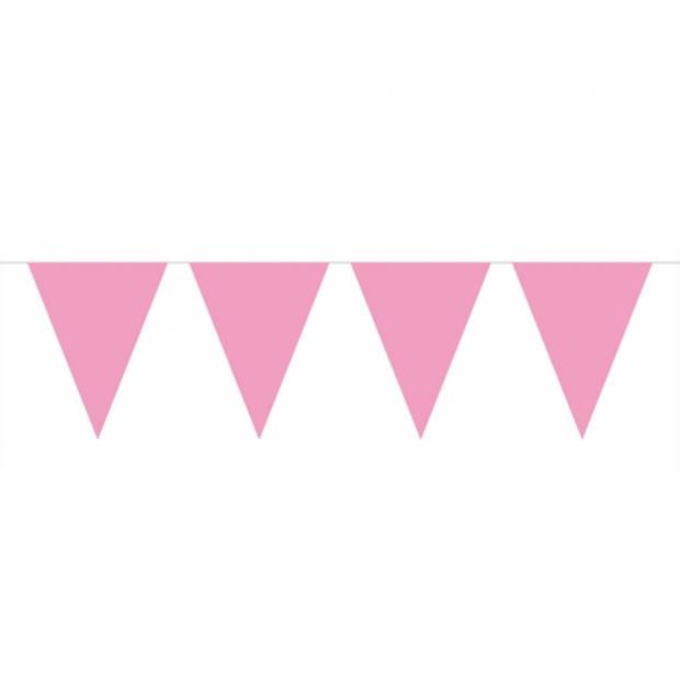 Baby roze vlaggenlijn 10 meter
