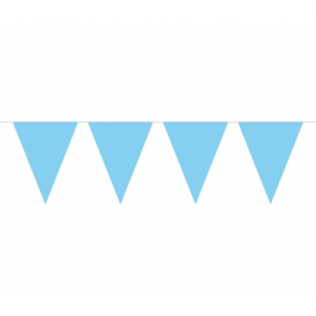 Baby blauwe vlaggenlijn 10 meter