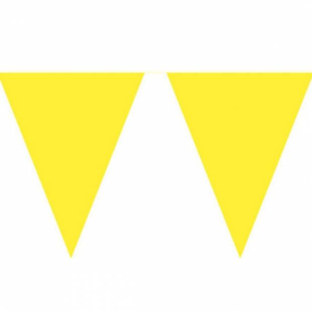 Gele vlaggenlijn 10 meter