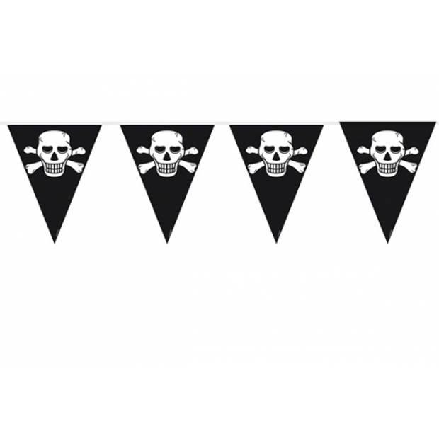 Piraten vlaggenlijn zwart 10 meter