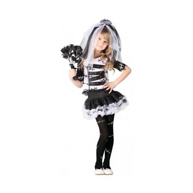 Zombie bruidsjurk voor meisjes 128-134 (7-9 jaar)