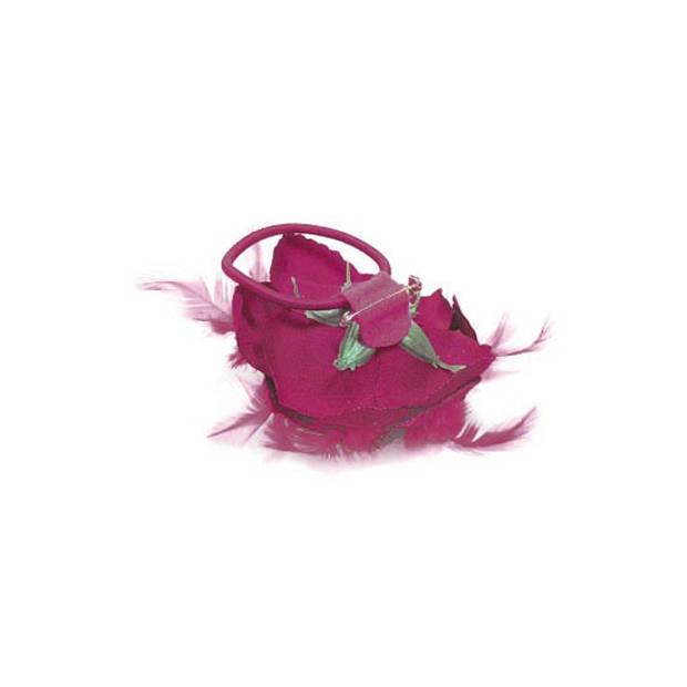 Gekleurde haarbloem roos geel