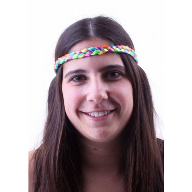 Regenboog hippie hoofdbandje