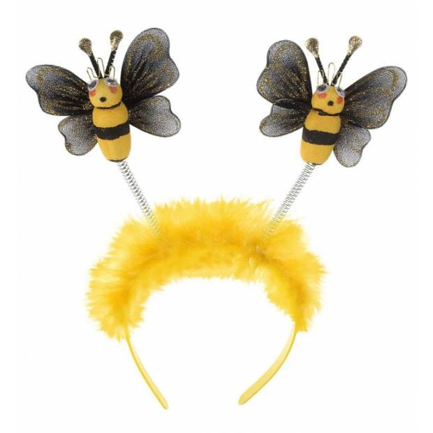 Bijen diadeem/haarband voor volwassenen - Verkleed accessoires bijenpak/kostuum/jurk