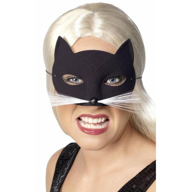 Zwarte katten oogmasker