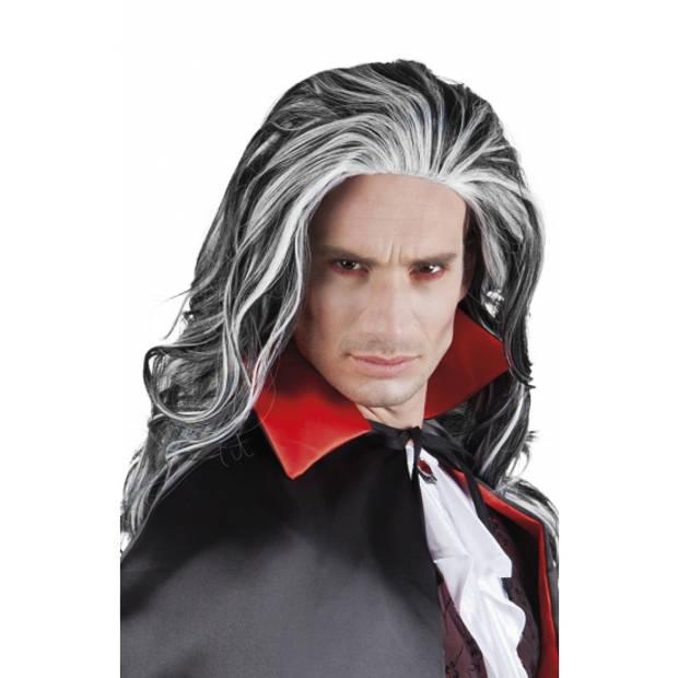 Grijze vampier pruik voor volwassenen