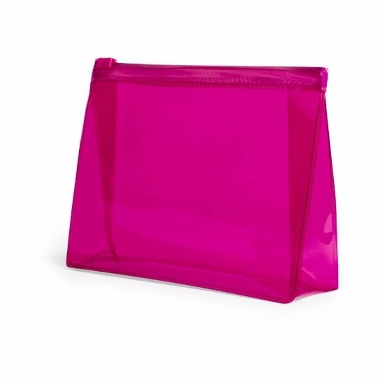 Korting Mini Toilettas make up Etui Roze 17 Cm Makeuptassen toilettassen Make up Opbergen Reis Etui vliegtuig Toilettasje