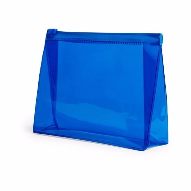 Korting Mini Toilettas make up Etui Blauw 17 Cm Makeuptassen toilettassen Make up Opbergen Reis Etui vliegtuig Toilettasje
