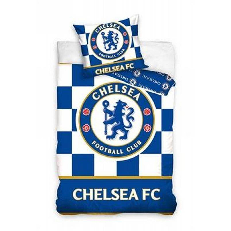 Chelsea FC dekbedovertrek - 100% katoen - 1-persoons (140x200 cm + 1 sloop) - 1 stuk (60x70 cm) - Bl