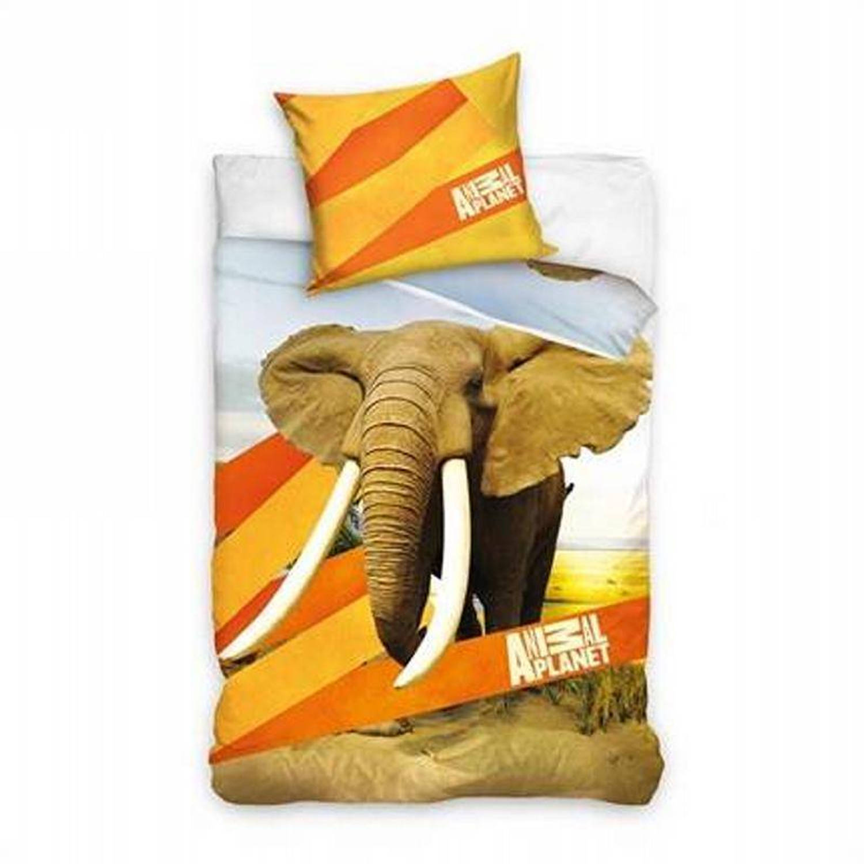 Afbeelding van Animal Planet dekbedovertrek - 100% katoen - 1-persoons (140x200 cm + 1 sloop) - 1 stuk (60x70 cm) - Oranje
