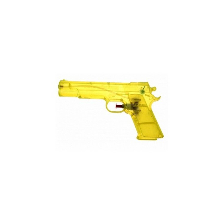 Afbeelding van 10 gele speelgoed waterpistolen 20 cm