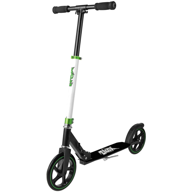 Xootz Xoo Large Wheeled Junior Voetrem Wit-Zwart