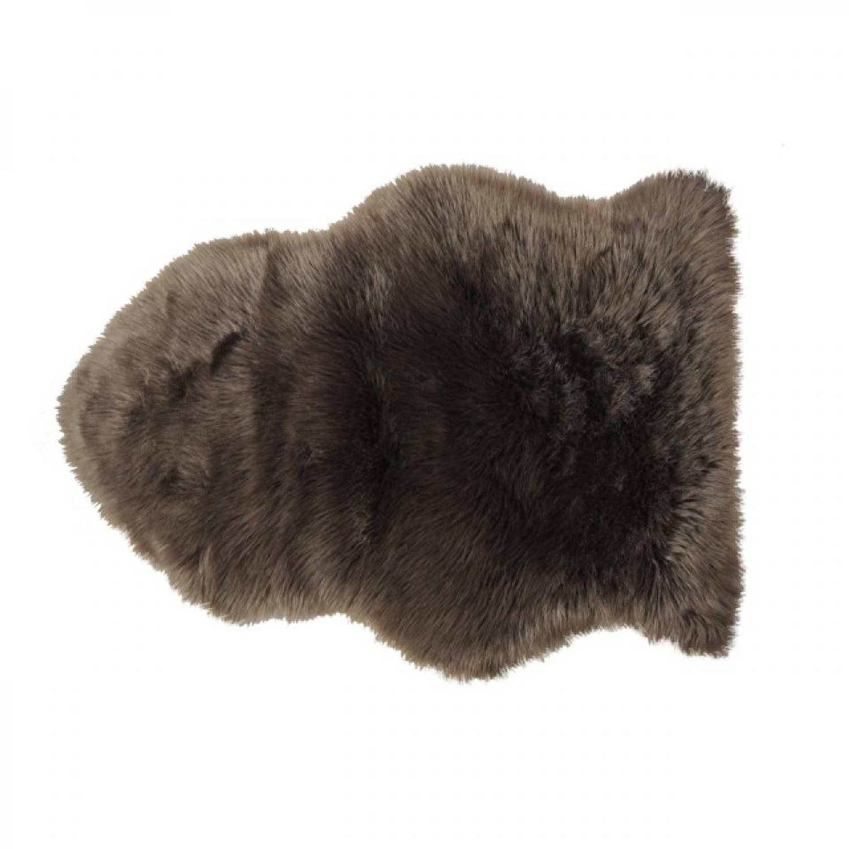 Van der Leeden schapenvacht - 90 x 65 cm - katoen - bruin