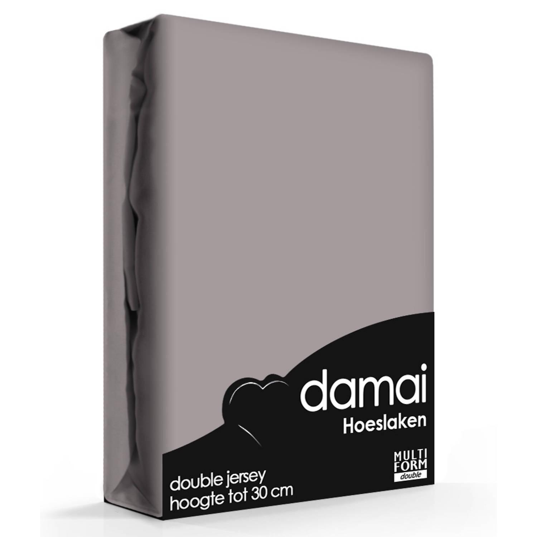 Damai Multiform Double Jersey Hoeslaken Walnut-80/90 x 210/220 cm