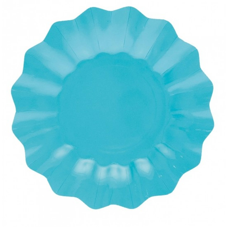 Korting Turquoise Diepe Bordjes 21 Cm