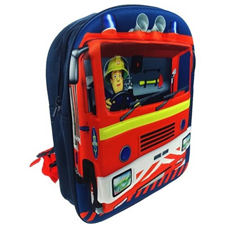 f2f438b02cb Brandweerman sam 3d rugzak 8 liter jongens blauw   Blokker