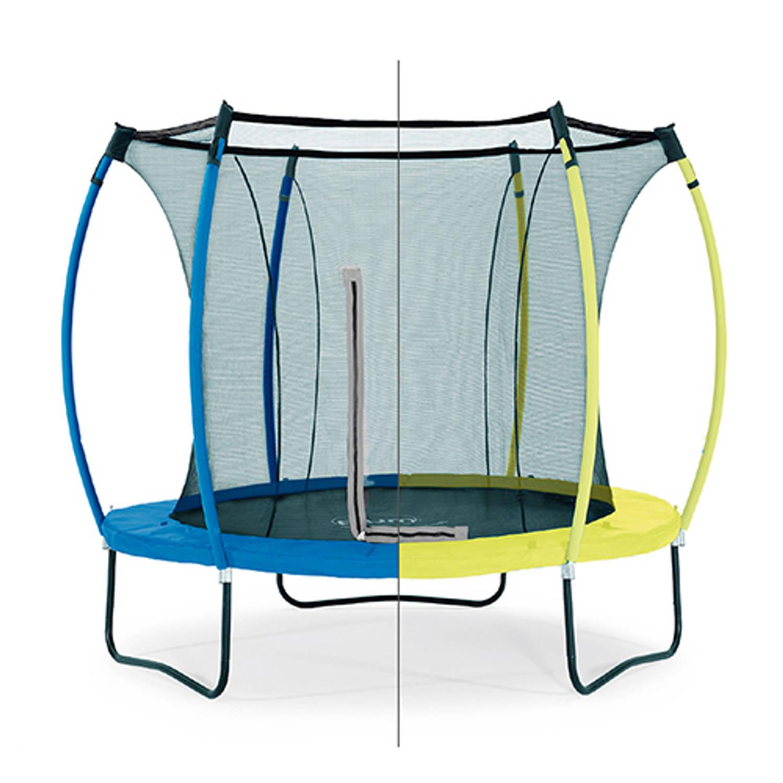 Trampoline plum colours 8ft snorkelblauw/limoen