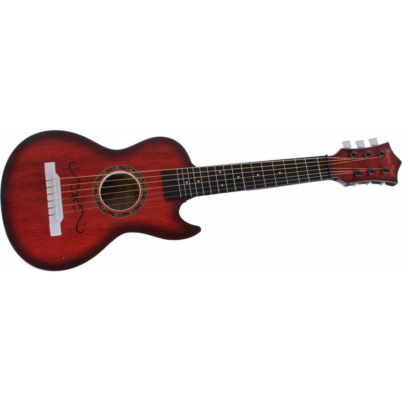 Johntoy gitaar zes snaren bruin 60 cm
