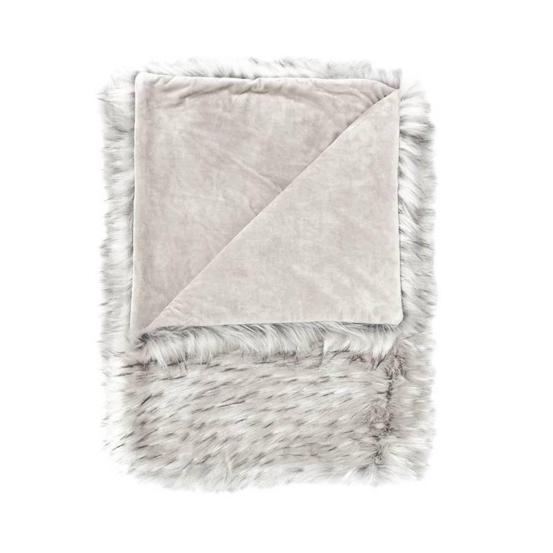 Heckett & Lane Kaipo plaid - Voorkant: 100% acryl, achterkant: 100% polyester - 140x200 cm - Ivoor