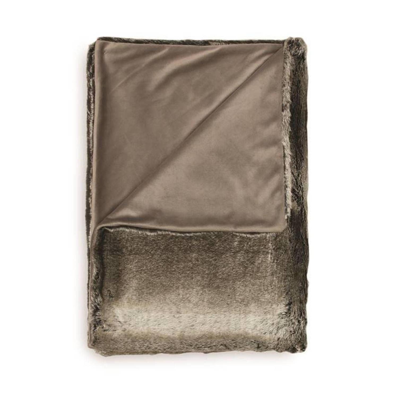 Heckett & Lane Gato plaid - Voorkant: 100% acryl, achterkant: 100% polyester - 140x200 cm - Grijs