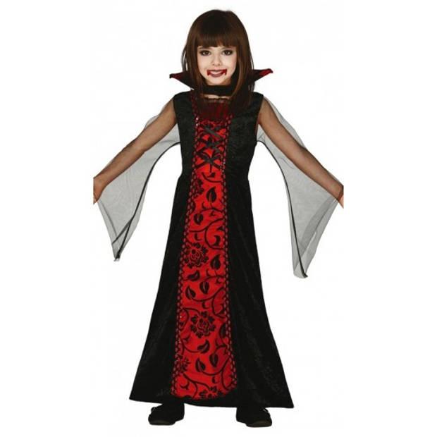 Rode vampieren jurk voor meisjes 128-134 (7-9 jaar)