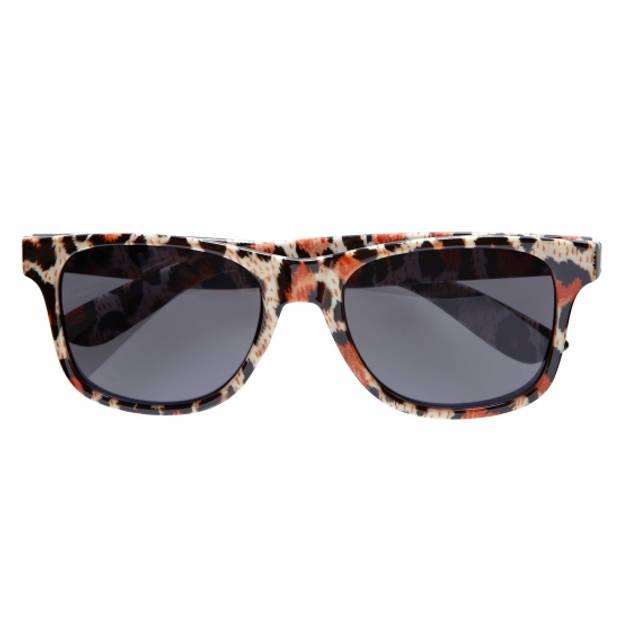 Luipaard print retro bril