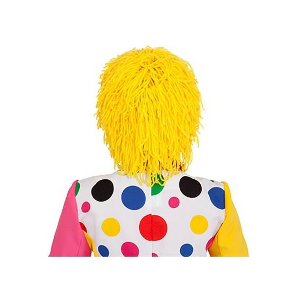 Gele verkleed clownspruik van wol