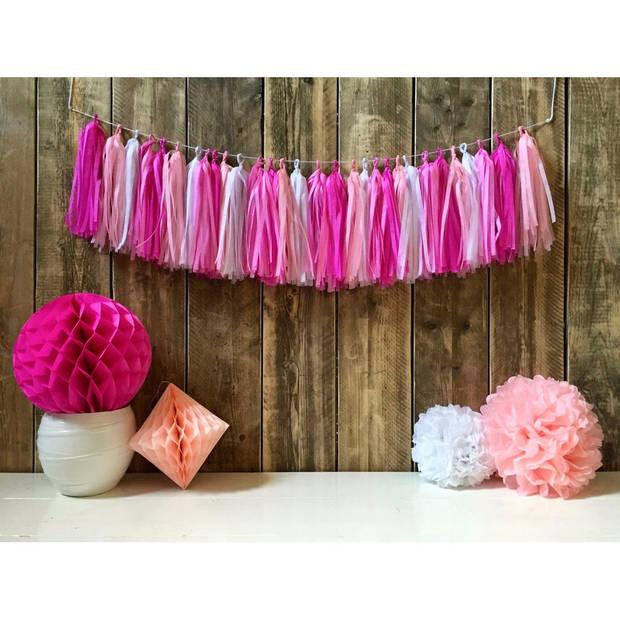 Kwast tassel slinger roze 5 meter