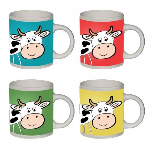 Koeien koffie/thee mok geel