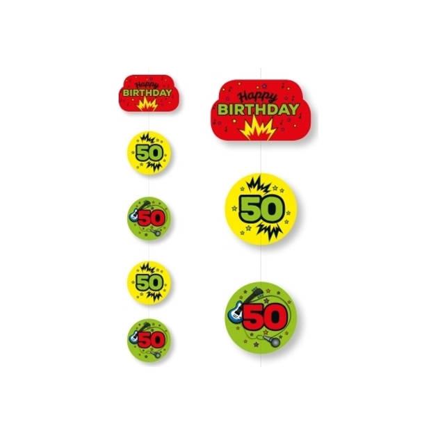 Hangslinger 50 jaar geel/groen