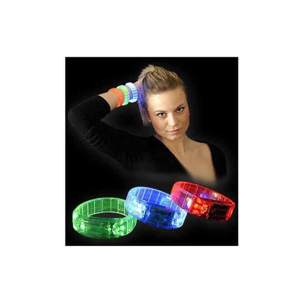 Gekleurde armband met LED licht groen