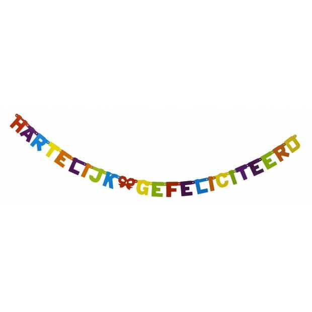 Letterslinger Hartelijk Gefeliciteerd 237 cm