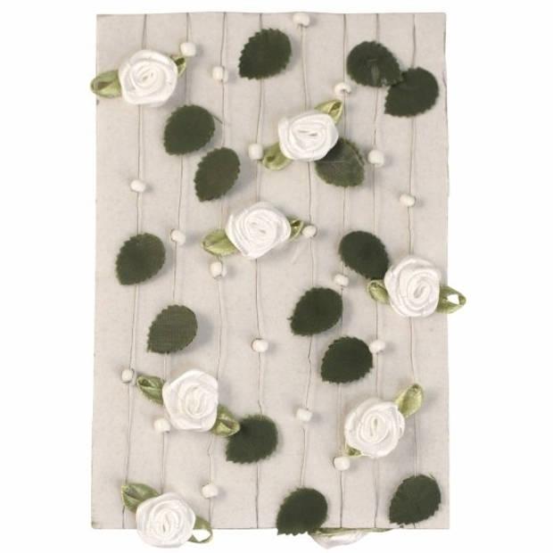 3 witte rozen slingers 2 meter