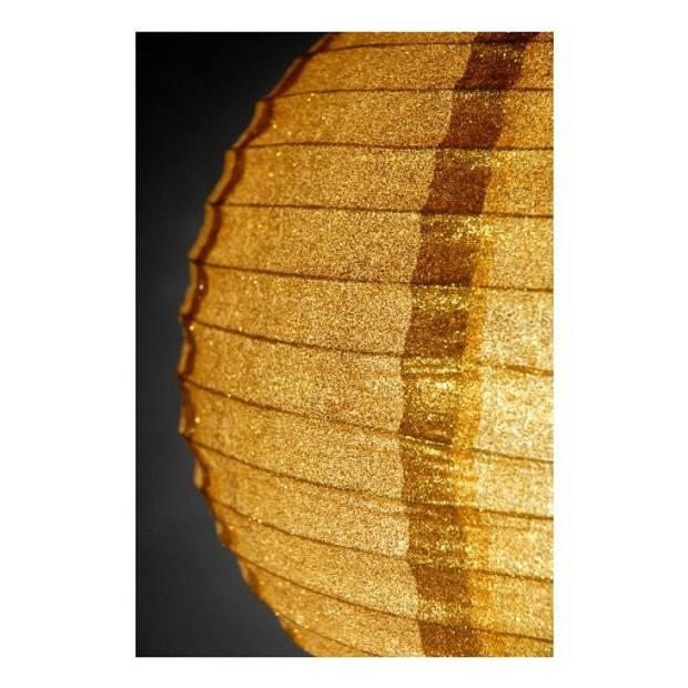 Gouden lampion met glitters