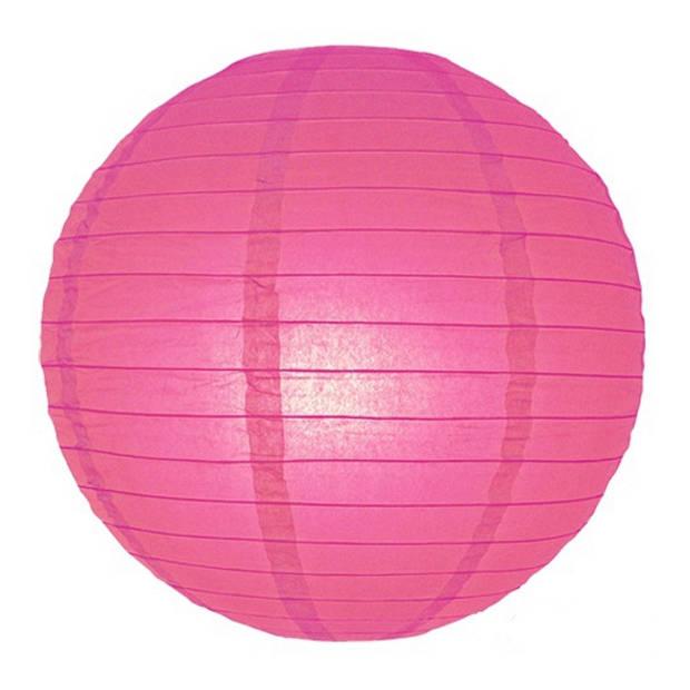 Luxe bol lampion fuchsia roze 25 cm