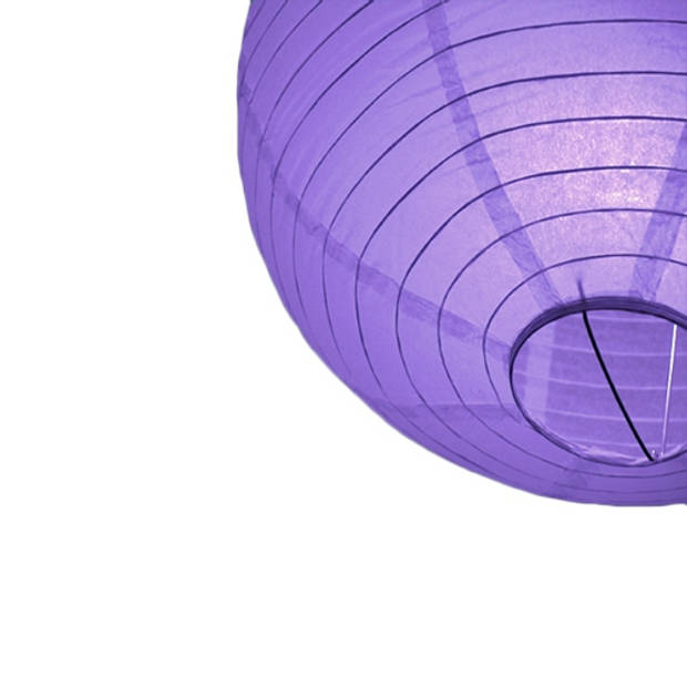 Luxe bol lampion paars 25 cm
