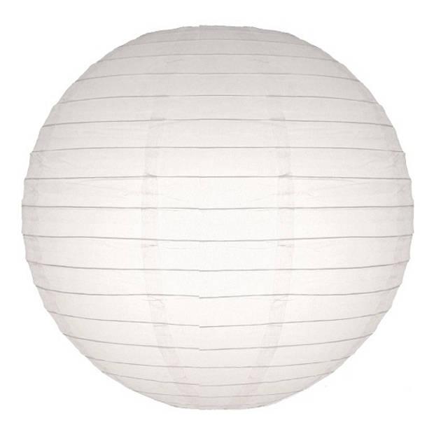 Luxe witte bol lampionnen 25 cm - Bruiloft, verjaardag, party feestartikelen/versiering in het wit