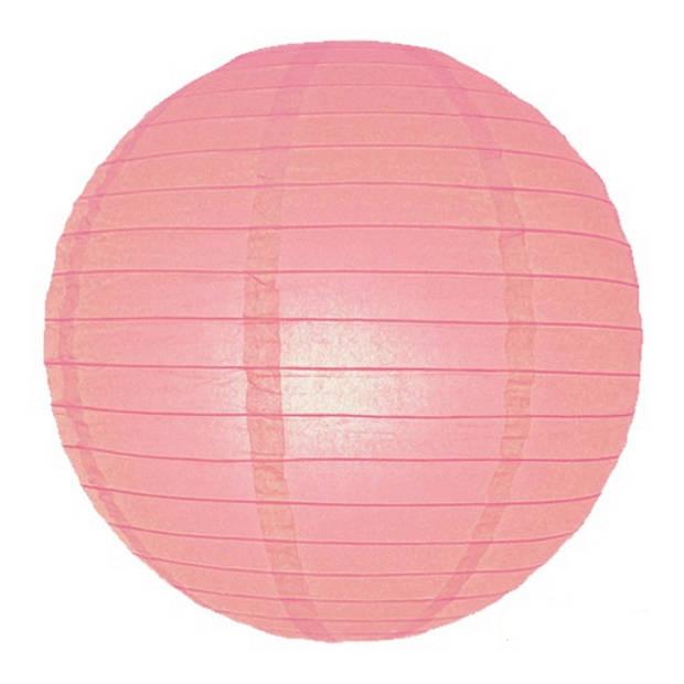 Luxe bol lampion roze 25 cm